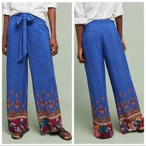NWT ANTHROPOLOGIE Ett:Twa Printed Wide Leg Pants